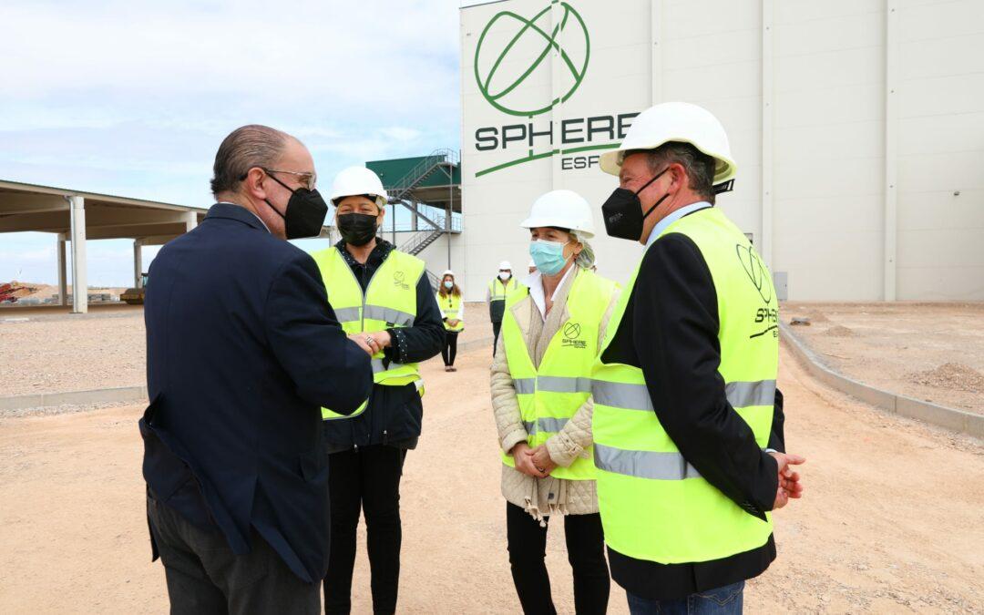 El Presidente Javier Lambán y la Consejera Marta Gastón visitan Sphere Spain