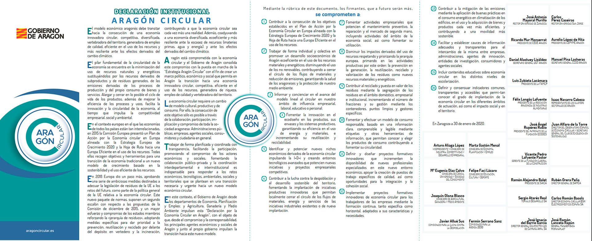 aragon-circular-Declaracion-Economia-Circular