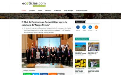 El Club de Excelencia en Sostenibilidad apoya la estrategia de 'Aragón Circular'