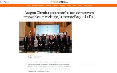 Aragón Circular potenciará el uso de recursos renovables, el reciclaje, la formación y la I+D+i