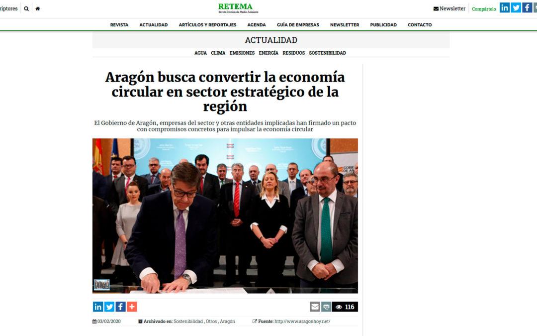 Aragón busca convertir la economía circular en sector estratégico de la región